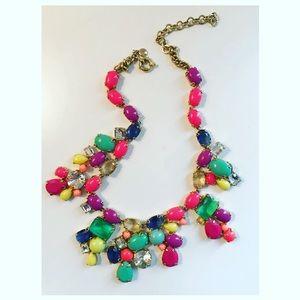 J. Crew multi colored gold necklace